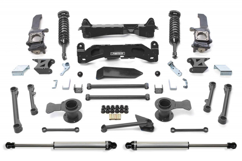 """Fabtech 6"""" Performance System w/  Front Dirt Logic SS 2.5 Coilovers & Rear Dirt Logic SS Shocks - 2010-13 Toyota FJ 2WD/4WD"""