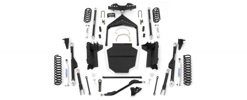 """Fabtech 6"""" Crawler System w/   Front & Rear Coil Springs & Performance Shocks - 1997-02 Jeep Tj"""