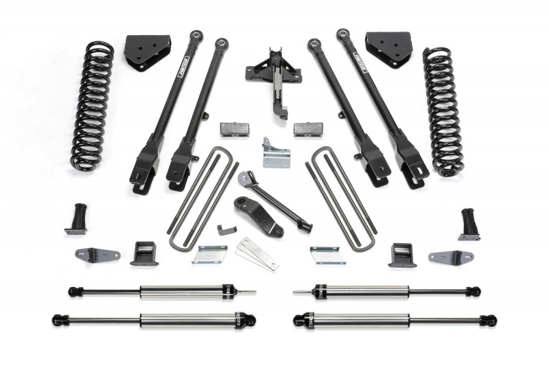 "Fabtech 10"" 4 Link System w/   Dirt Logic SS Shocks - 2008-10 Ford F350 4WD"