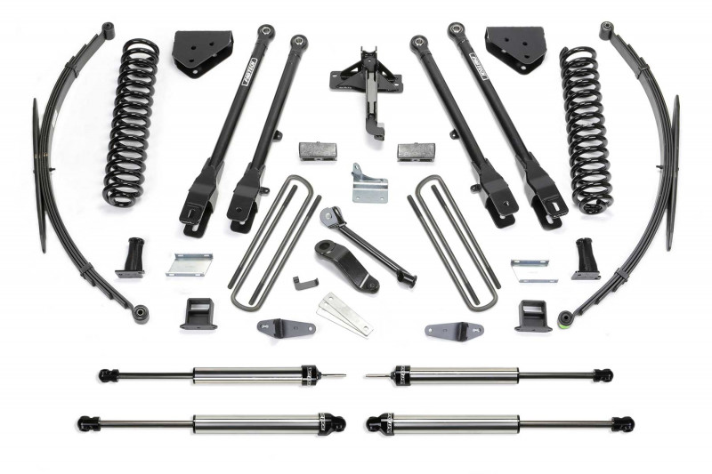 """Fabtech 10"""" 4 Link System w/   Dirt Logic SS Shocks - 2011-16 Ford F350 4WD & 2011 Ford F450 (8 Lug) 4WD"""
