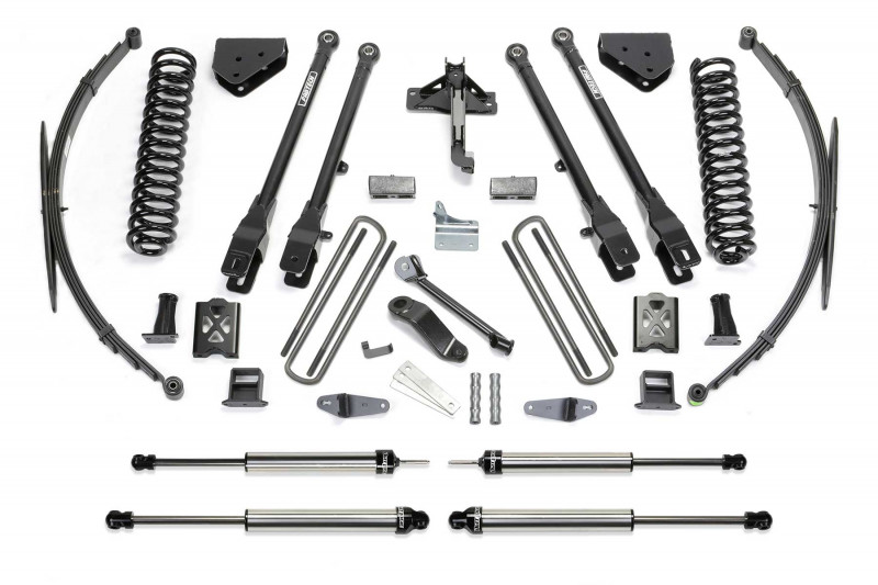 "Fabtech 10"" 4 Link System w/   Dirt Logic SS Shocks - 2005-07 Ford F250/F350 4WD"