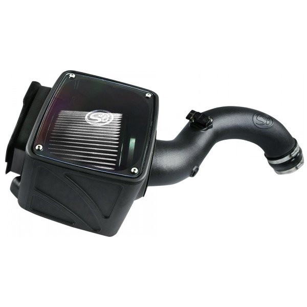 S&B Cold Air Intake W/ Dry Extendabe White Filter (01-04 Chevy/GMC   6.6L Duramax)