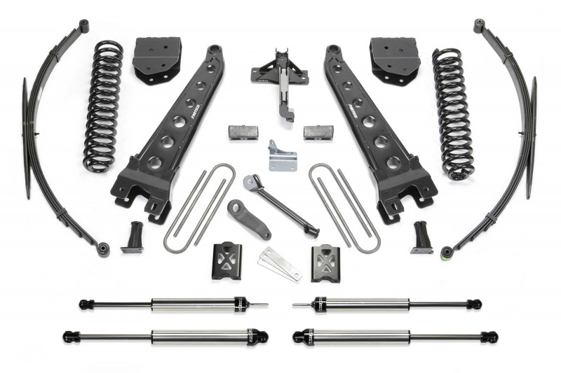"Fabtech 10"" Radius Arm System w/   Dirt Logic SS Shocks - 2005-07 Ford F250/F350 4WD"
