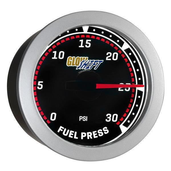 GlowShift Tinted 30PSI Fuel Pressure Gauge