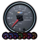 GlowShift Black 7 Color 30 PSI Boost / Vacuum Gauge