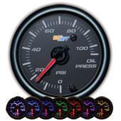 GlowShift Black 7 Color Oil Pressure Gauge