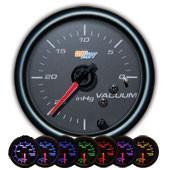 GlowShift Black 7 Color Vacuum Gauge