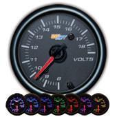 GlowShift Black 7 Color Volt Gauge