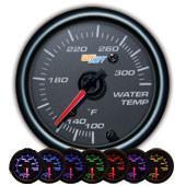GlowShift Black 7 Color Water Temperature Gauge