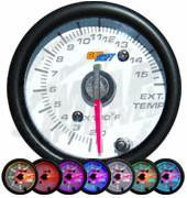 GlowShift White 7 Color 1500 degrees F Exhaust Gas Temperature Gauge