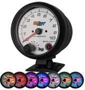 GlowShift White 7 Color 3-3/4in Tachometer and Shift Light