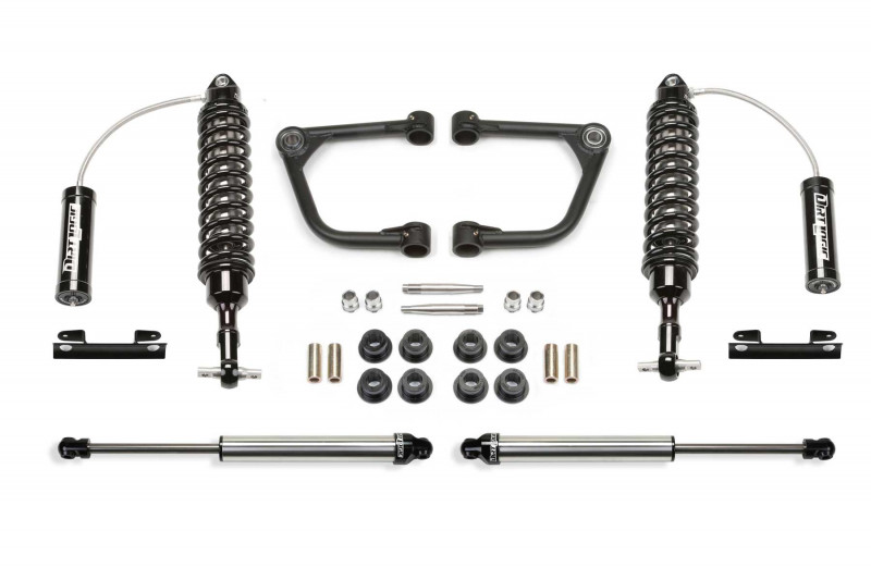 "Fabtech 2"" Upper Control Arm System w/   Front Dirt Logic SS 2.5 Coilover Resi & Rear Dirt Logic SS Shocks - 2007-15 Toyota Tundra 2WD/4WD"