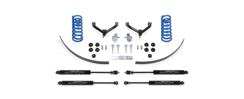 fabtech 25 performance system w stealth shocks 1998 08 ford ranger 2wd w coil spring front