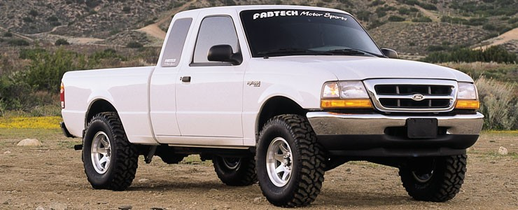 "Fabtech 2.5"" Performance System w/   Performance Shocks - 1998-08 Ford Ranger 2WD w/  Coil Spring Front Suspension & 3.0L Or 4 Cyl"