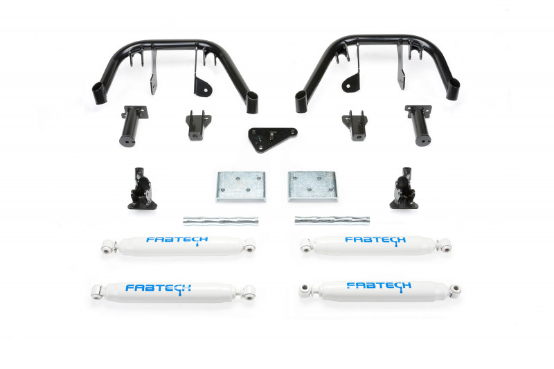 fabtech 6 multiple front shock system w performance shocks