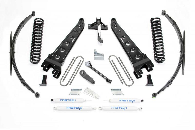 fabtech 8 radius arm system w performance shocks 2008 16 ford f250 f350 4wd 2011 13 ford f450