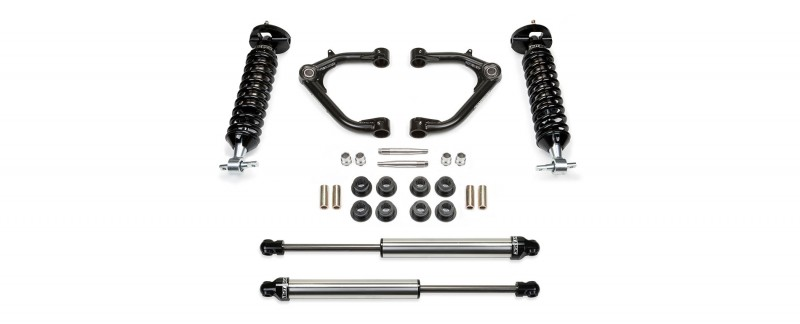 "Fabtech 2"" Uniball UCA System w/   Front Dirt Logic SS 2.5 Coilovers & Rear Dirt Logic SS Shocks - 2014-17 GM 1500 2WD/4WD"
