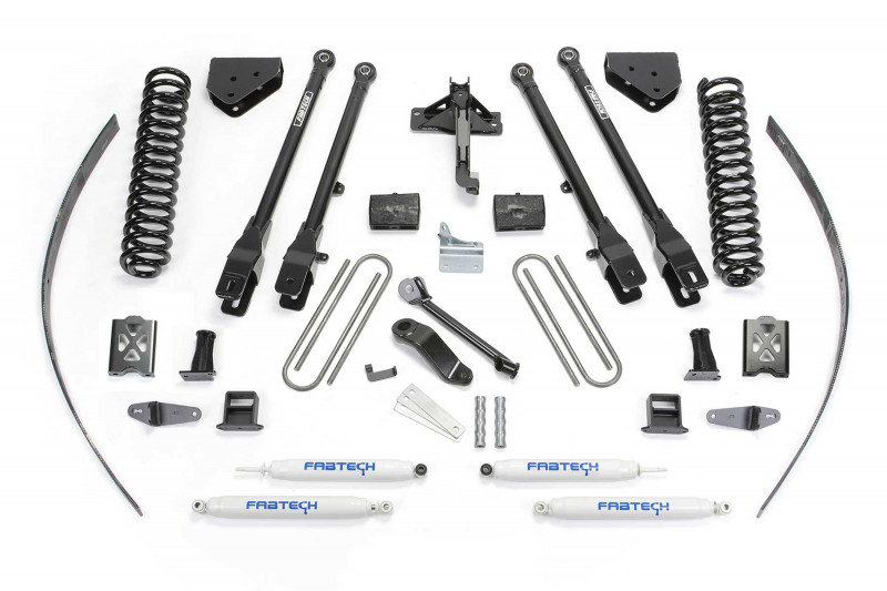 fabtech 8 4 link system w performance shocks 2005 07 ford