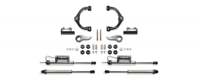 "Fabtech 3"" Uniball UCA System w/   Front Dirt Logic 2.25 Resi SS Shocks & Rear Dirt Logic Shocks - 2011-16 GM C/K2500HD & C/K3500HD 2WD/4WD"