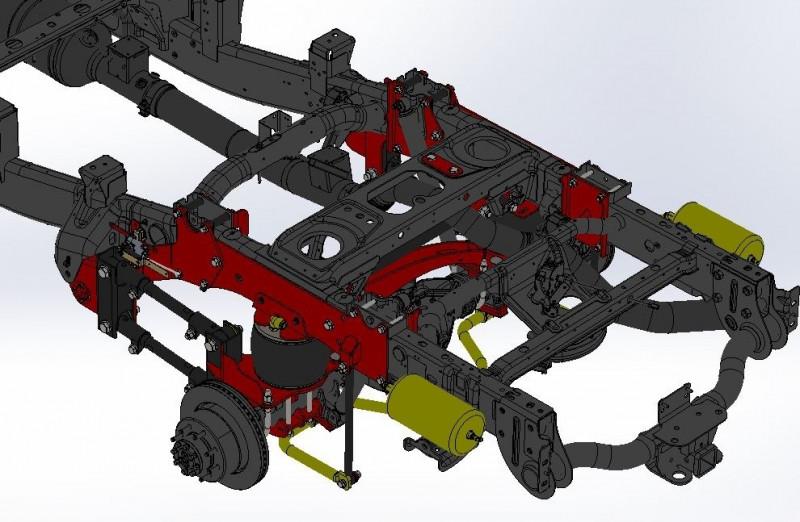 Kelderman Stock Height 4-Link Rear Air Suspension, Factory Air Ride Trucks (19+ RAM 3500 4WD)