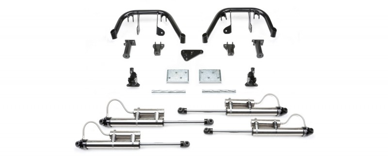 """Fabtech 10"""" Multiple Front Shock System w/   Dirt Logic SS 2.25 w/   Resi - 2008-10 Ford F250/F350 4WD"""