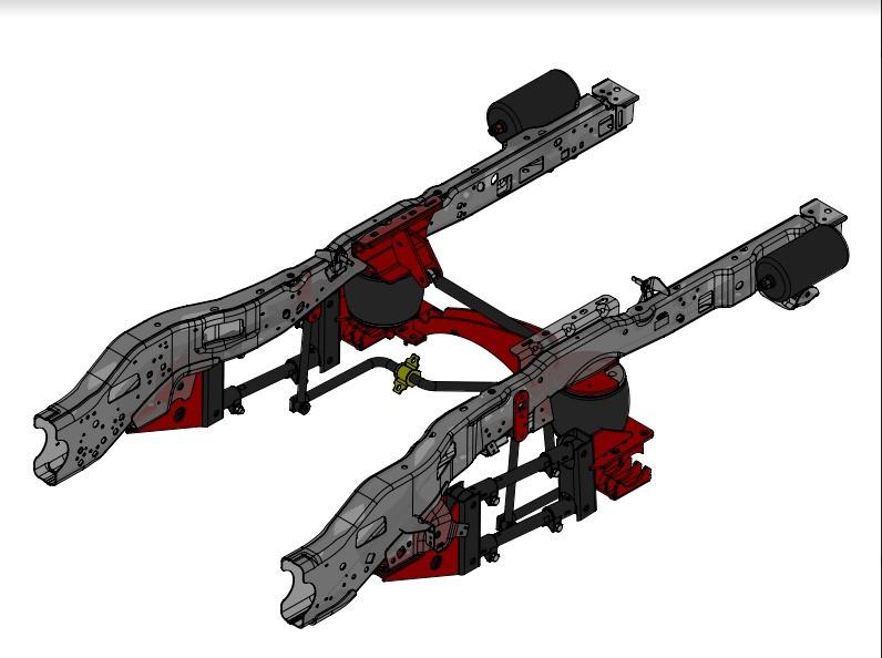 Kelderman Stock Height 4-Link Rear Air Suspension(17+ F350 4WD)