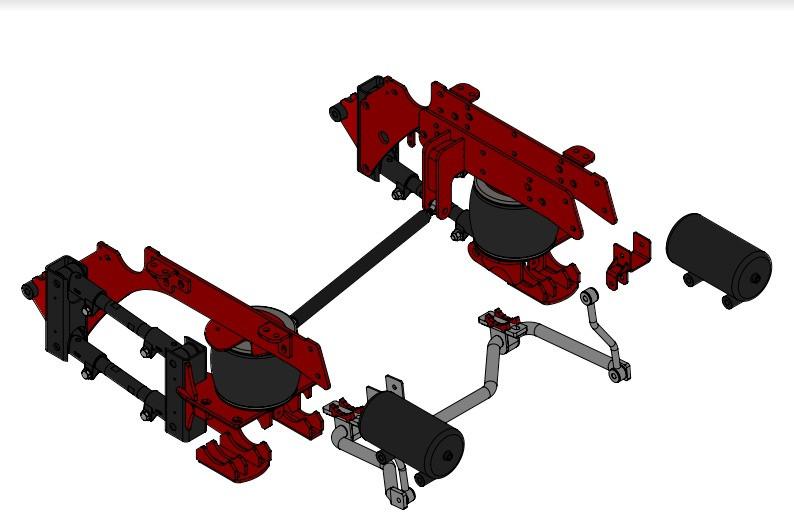Kelderman Stock Height 4-Link Rear Air Suspension (2020+ GM 2500/3500 4WD)