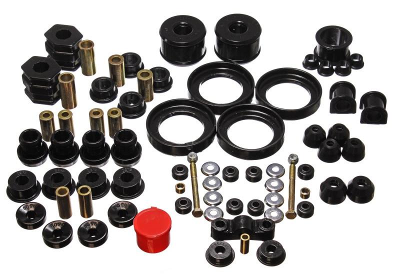 Energy Suspension Hyper-Flex Master Bushing Set (Black) | 96-00 Honda Civic/CRX