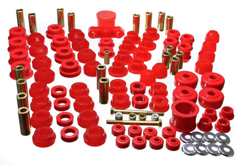 Energy Suspension Hyper-Flex Master Bushing Set (Red) | 88-91 Honda Civic/CRX