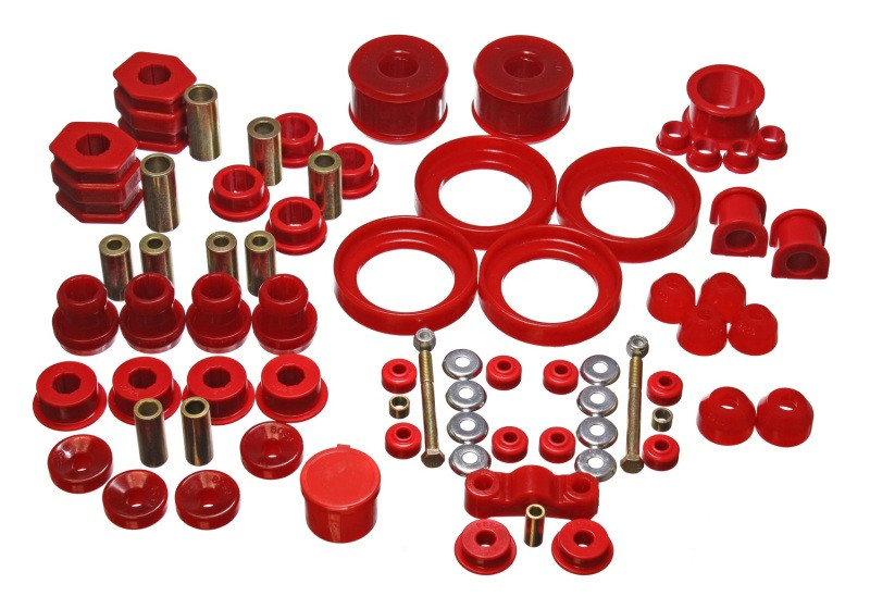 Energy Suspension Hyper-Flex Master Bushing Set (Red) | 96-00 Honda Civic/CRX