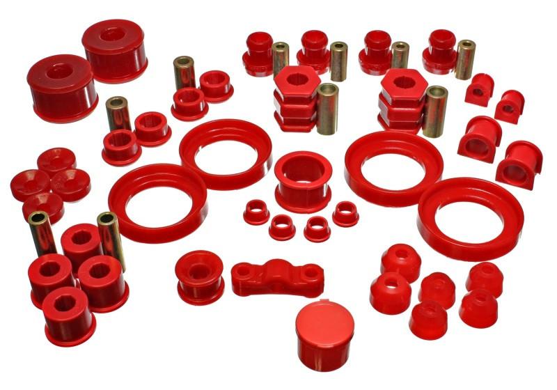 Energy Suspension Hyper-Flex Master Bushing Set (Red) | 99-00 Honda Civic Si