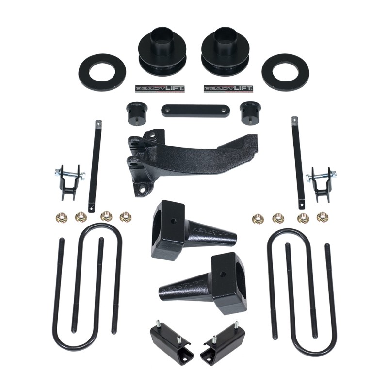 """ReadyLift 2.5"""" SST Lift Kit with 4"""" Rear Tapered Blocks - 1 Piece Drive Shaft without Shocks - Ford F-250 2005-2007"""