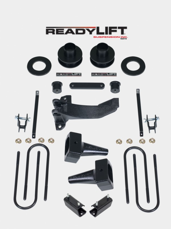 """ReadyLift 2.5"""" Coil Spring Spacer Front-5.0"""" Flat  Block Rear-2 Piece Drive Shaft-F-350 Dually  - Ford F-250,F-350,F-450 2011-2016"""