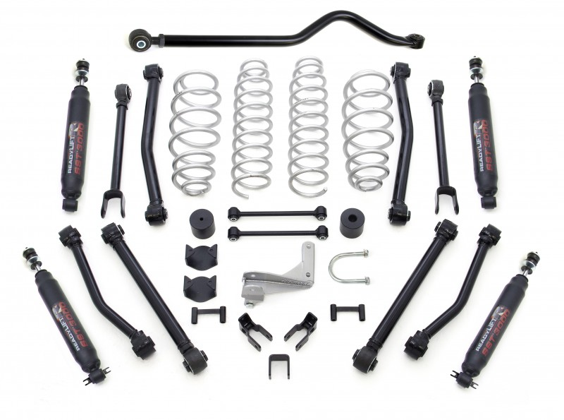 "ReadyLift 2.5"" Terrain Flex 8-Arm Lift Kit with SST3000 Shocks - Jeep JK Wrangler 2007-2018"