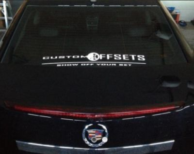 "24"" Vinyl ""Show OFF your SET"" Custom Offsets decal"