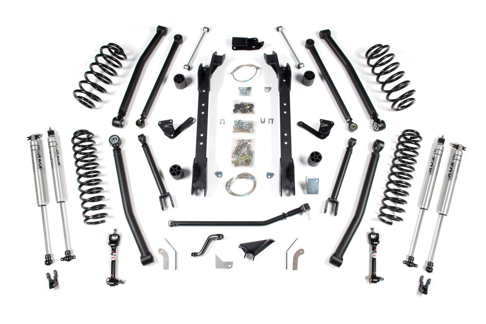 bds suspension 4 1 2 long arm lift kit jeep wrangler tj