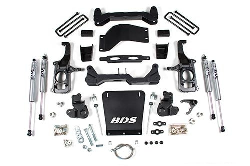 "BDS Suspension 4.5"" No Torsion Bar Drop Suspension System 2011-2017 Chevy 2500HD 2WD/4WD"