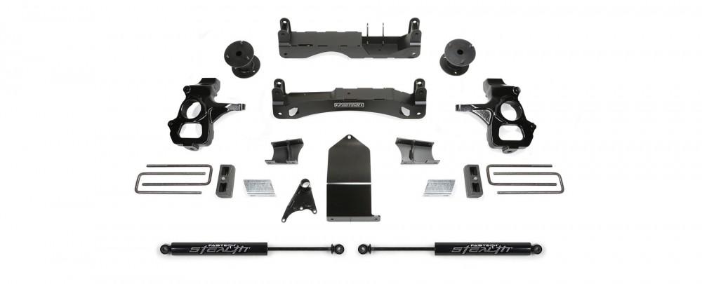 "Fabtech 4"" Basic System w/  Rear Stealth Shocks - GM 1500 2WD/4WD"