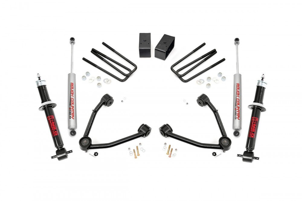rough country 35in gm suspension lift kit lift struts 2wd w upper control arms