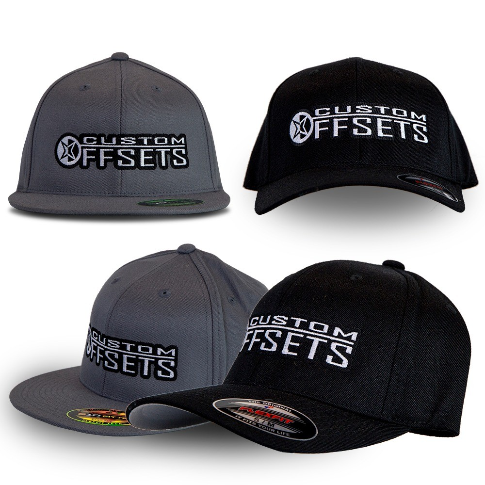 Custom Offsets Flex Fit Curved Bill OR Flat Bill Hats