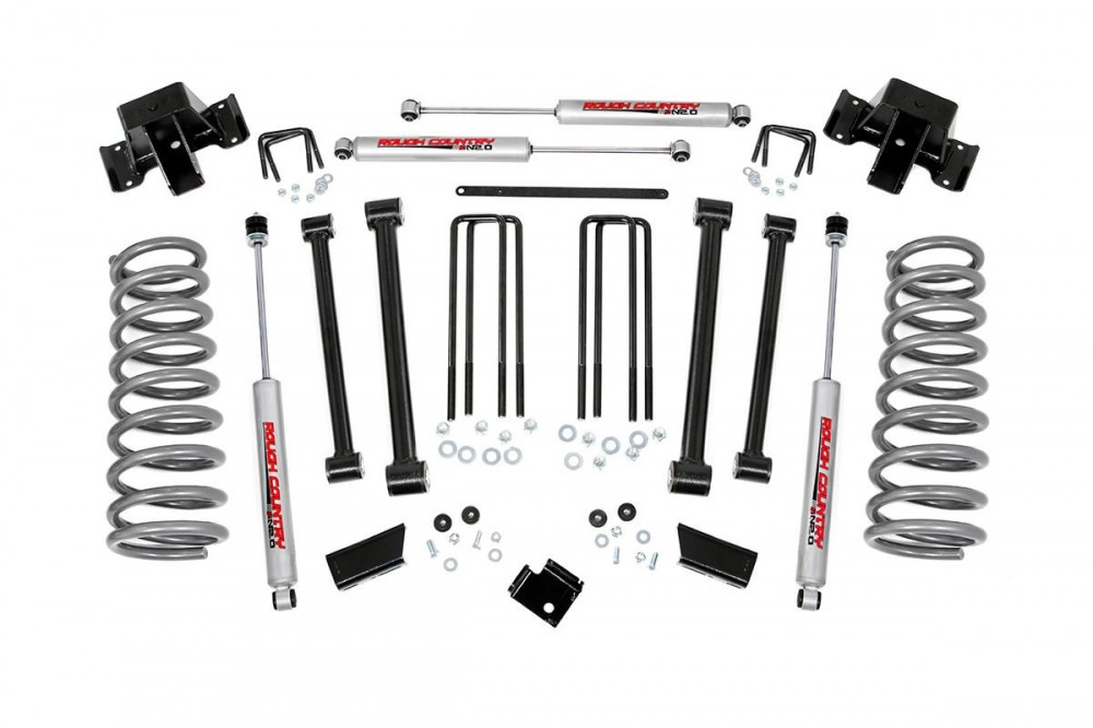rough country 3in dodge suspension lift kit 94 02 ram 2500 4wd