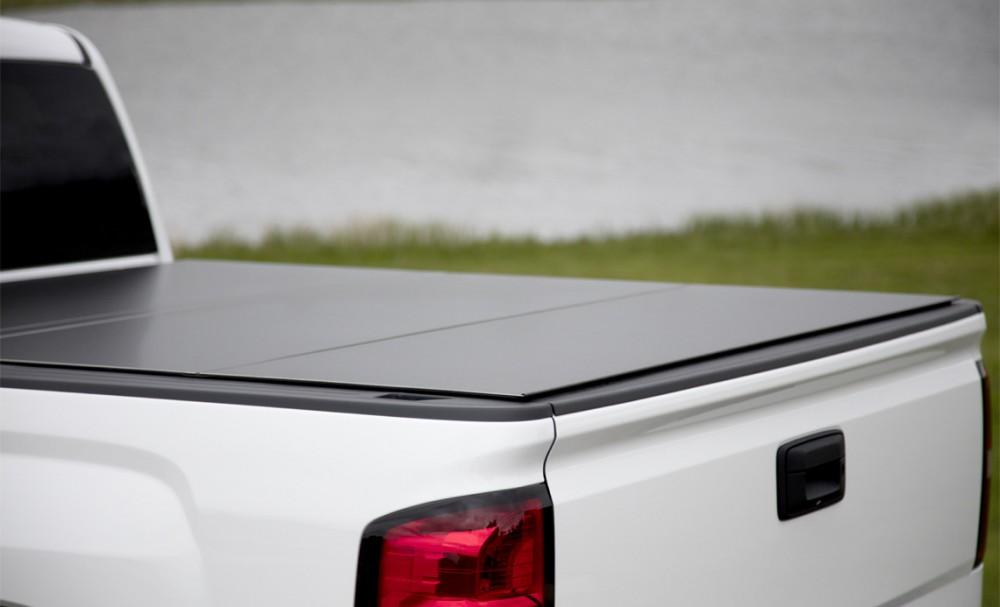 """LOMAX B1020039 Hard Tri-Fold Tonneau Cover Chevy/GMC 2500/3500 6'6"""" Standard Bed (2015-17 ..."""