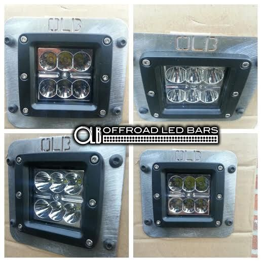 3 inch dual cube kit with single flush mount