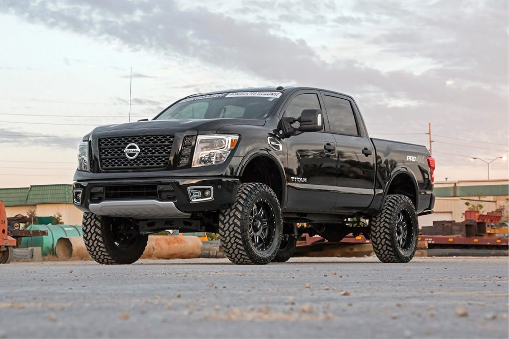 rough country 6in nissan suspension lift kit 2017 titan 4wd. Black Bedroom Furniture Sets. Home Design Ideas