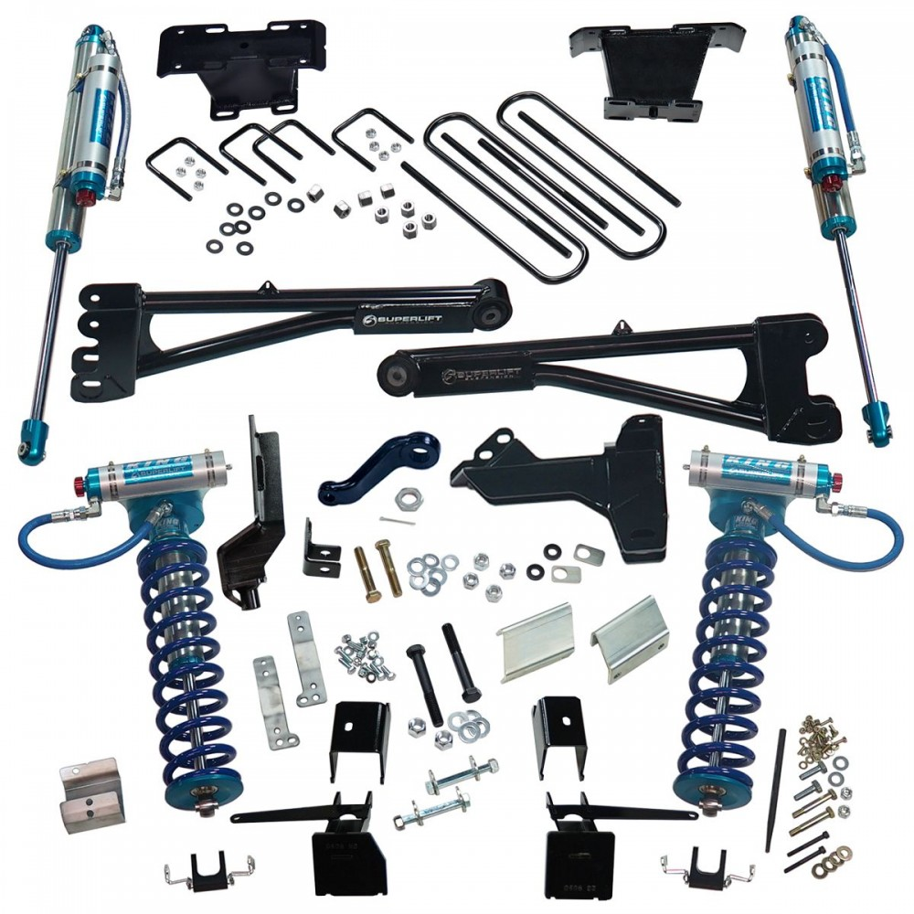"SUPERLIFT 6"" King Edition Radius Arm Lift Kit w/  King Front Coilovers And King Reservoir Rear Shocks"