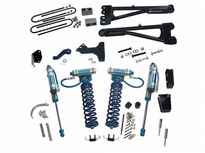 """SUPERLIFT 6"""" Lift Kit w/  Replacement Radius Arms, King Coilovers And King Rear Shocks"""