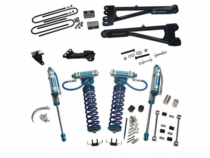 "SUPERLIFT 4"" Lift Kit w/  Replacement Radius Arms, King Coilovers And King Rear Shocks"