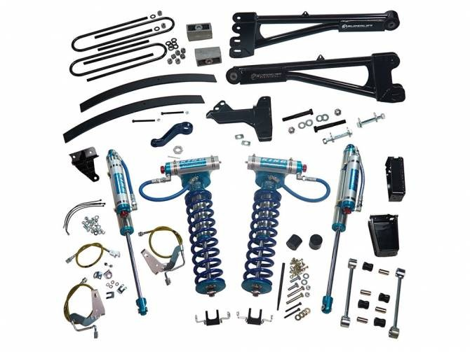 "SUPERLIFT 6"" Lift Kit w/  Replacement Radius Arms, King Coilovers And King Rear Shocks"