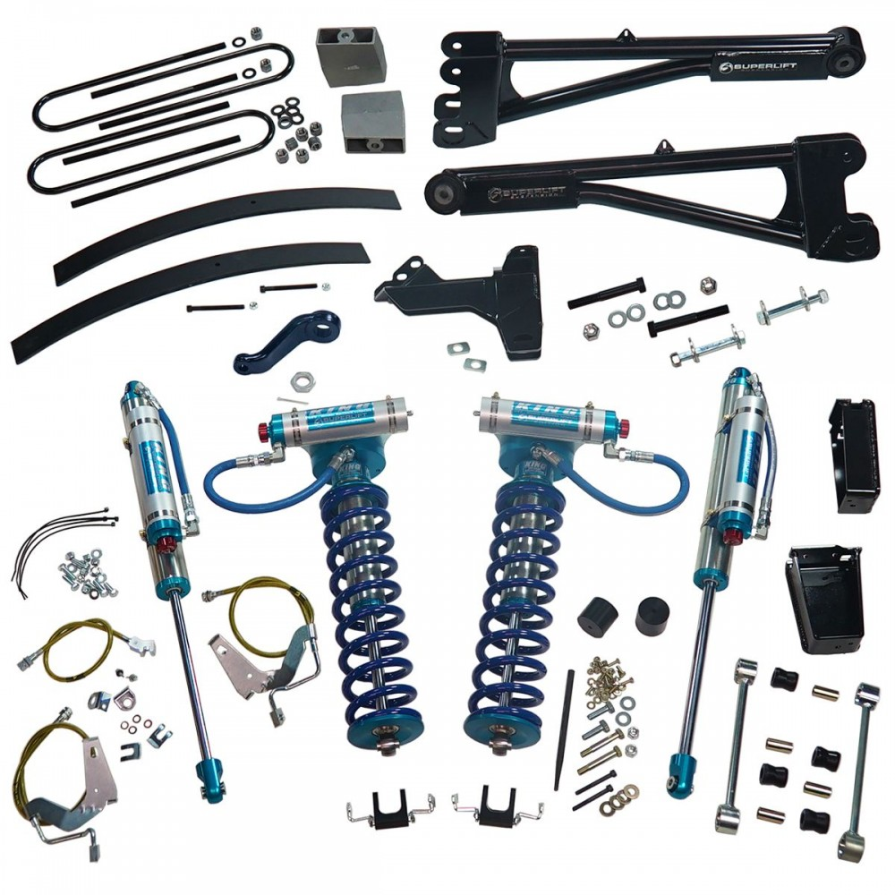 "SUPERLIFT 8"" Lift Kit w/  Replacement Radius Arms, King Coilovers And King Rear Shocks"