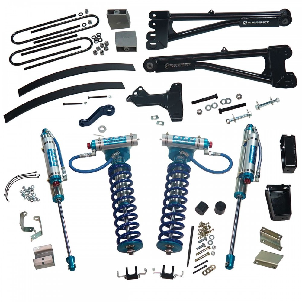"""SUPERLIFT 8"""" Lift Kit w/  Replacement Radius Arms, King Coilovers And King Rear Shocks"""
